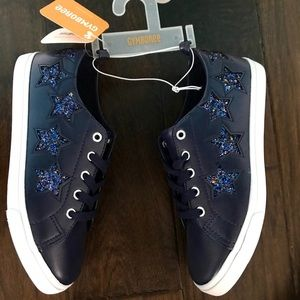 Gymboree Girls Glitter Stars Sneakers